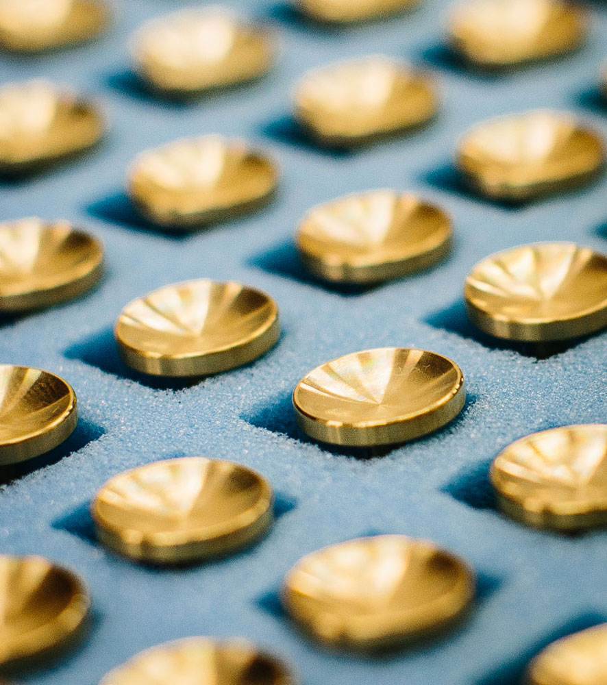 The patina jewellery is precision turned in our aerospace factory. Made in Britain, using true engineering experts, it is then delivered to Derek, our Patina Artist, to work his magic.