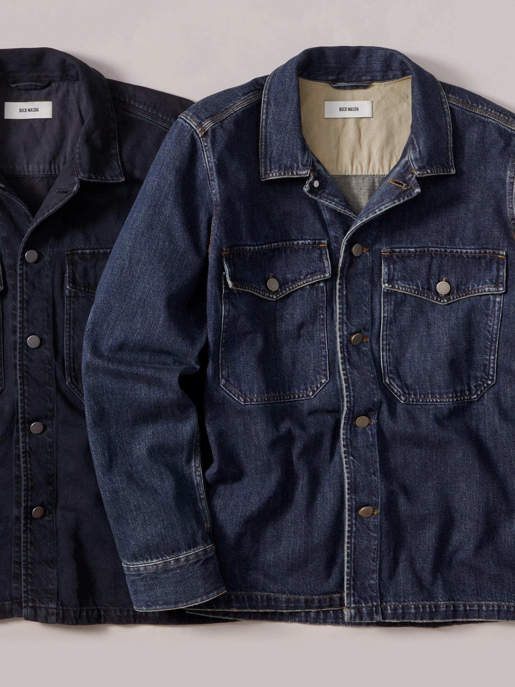 Buck Mason - D002 Dark Wash Denim Two Pocket Field Shirt