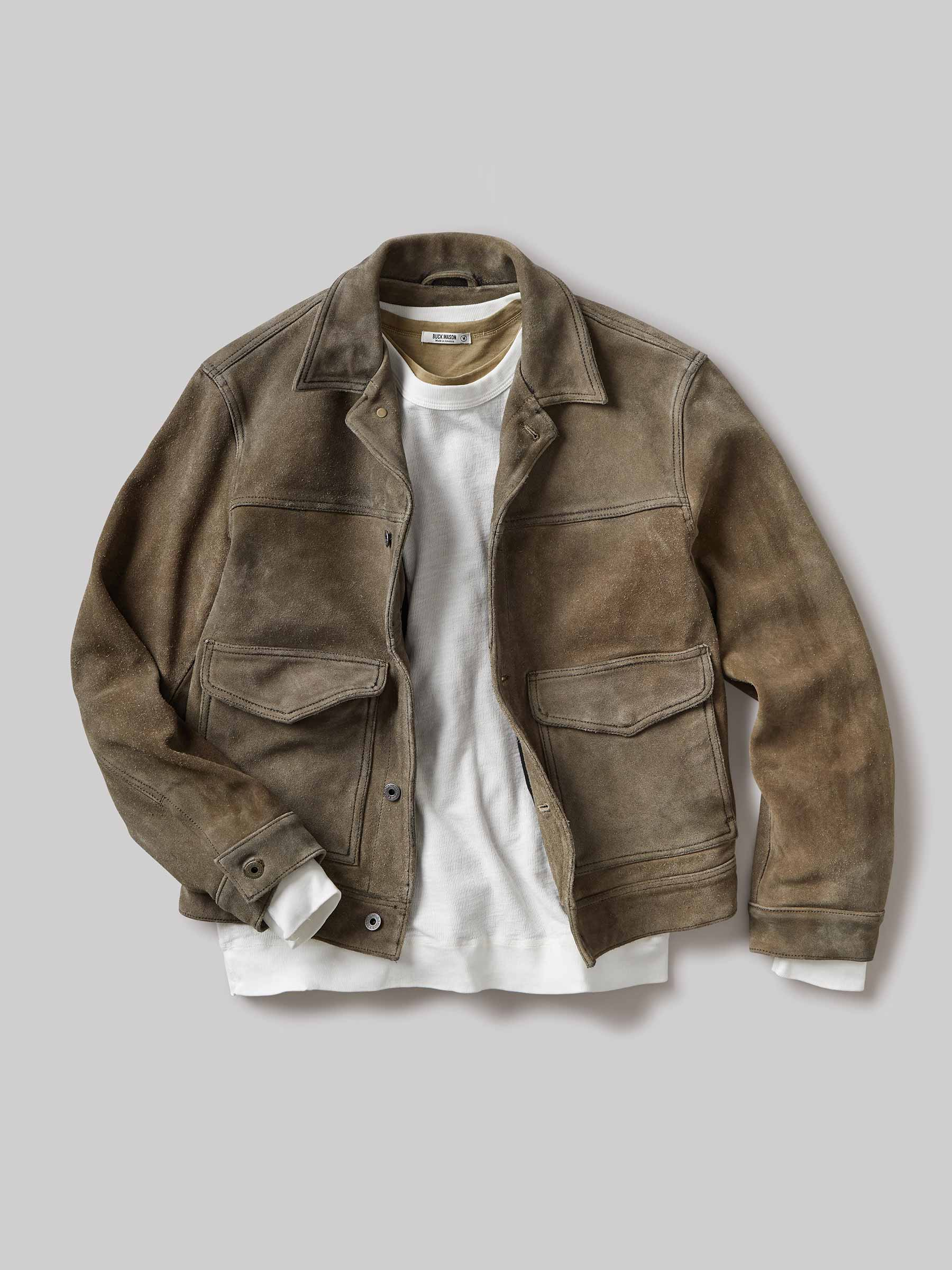 Buck Mason - Saddle Vintage Suede Interstate Jacket