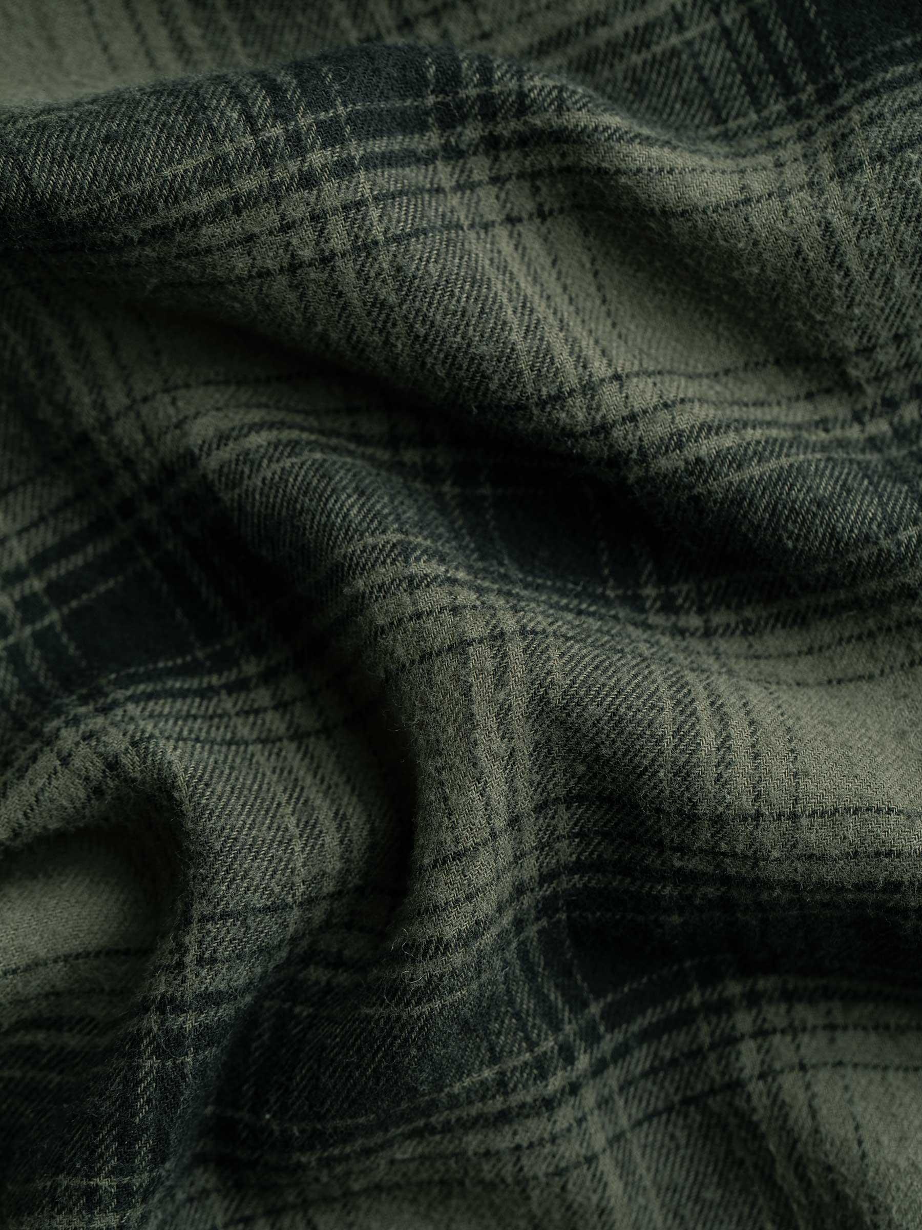 Buck Mason - Olive/Black High Desert Flannel Vintage One Pocket Shirt