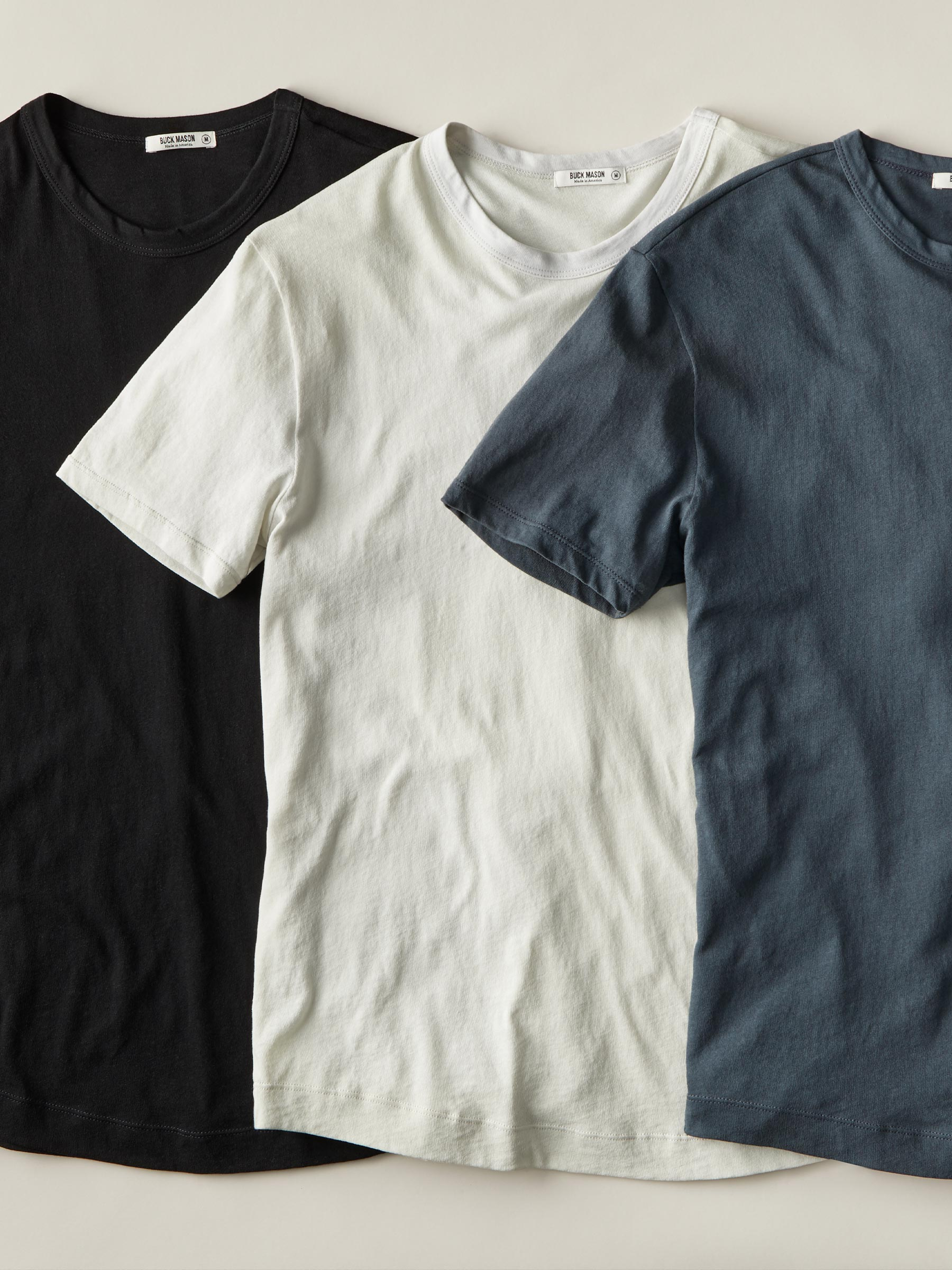 Buck Mason - White Costa Curved Hem Tee