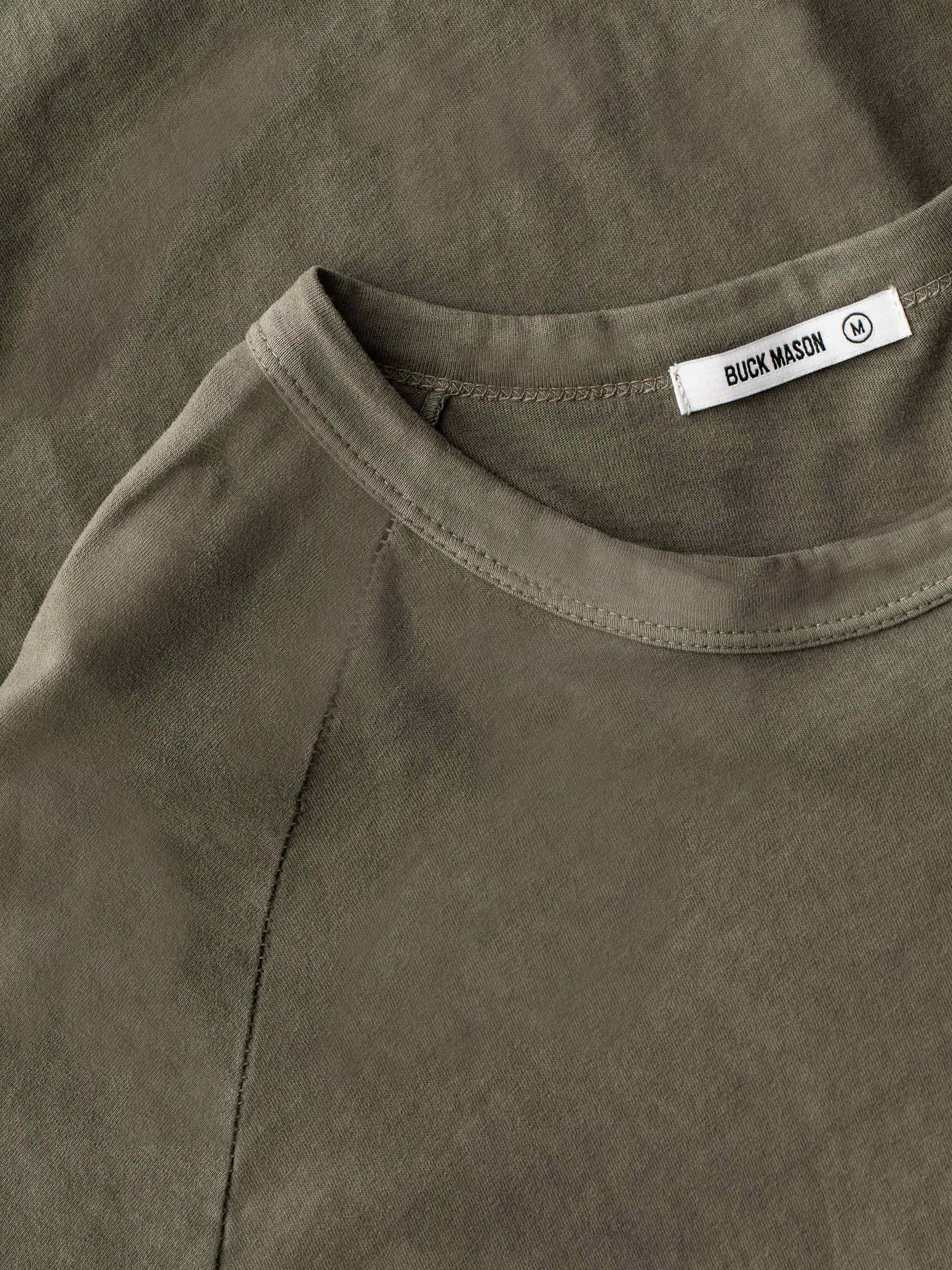 Buck Mason - Natural Venice Wash Sueded Cotton Long Sleeve Raglan Tee