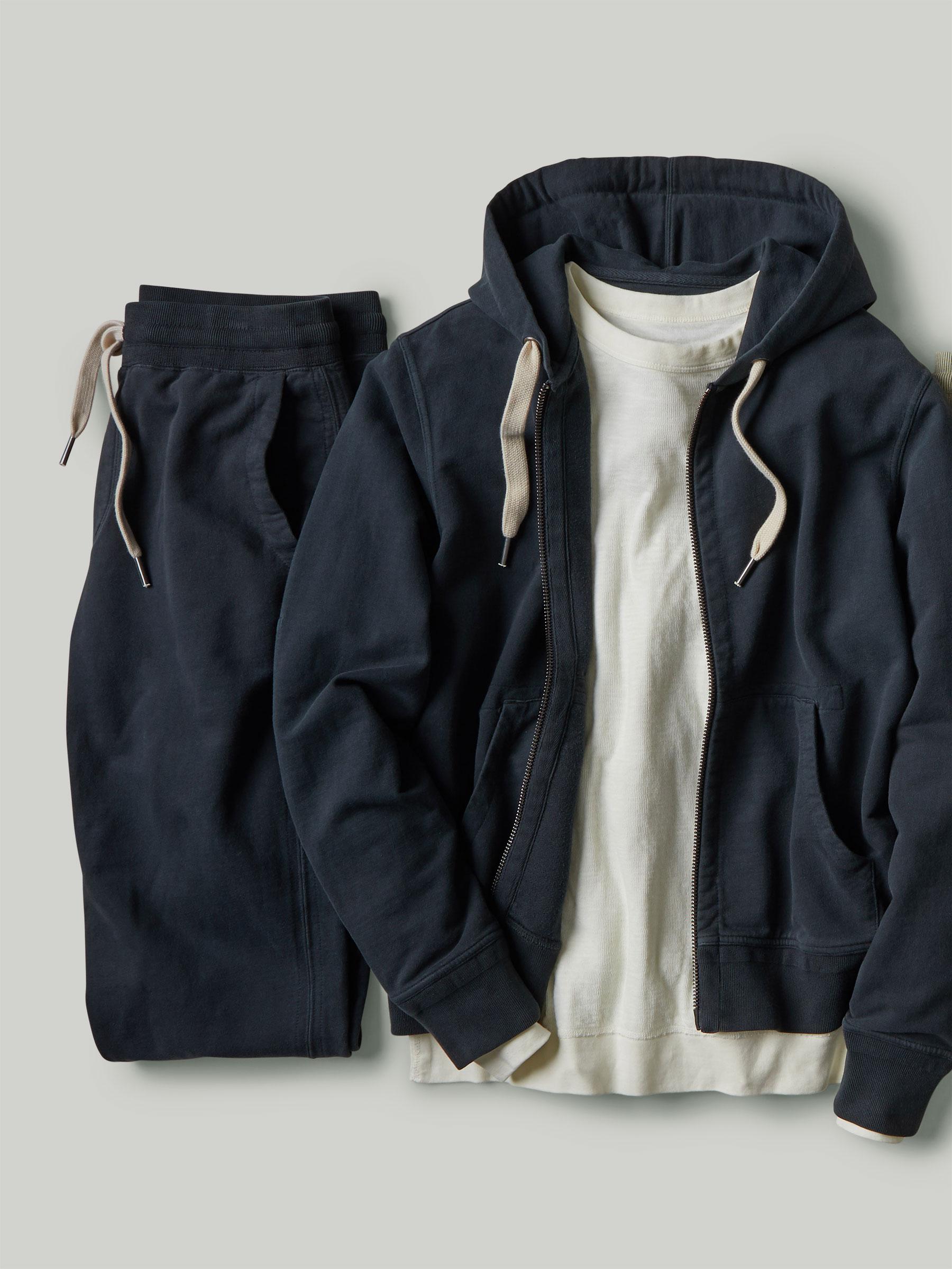 Buck Mason - Dark Navy Venice Wash Brushed Loopback Trouser