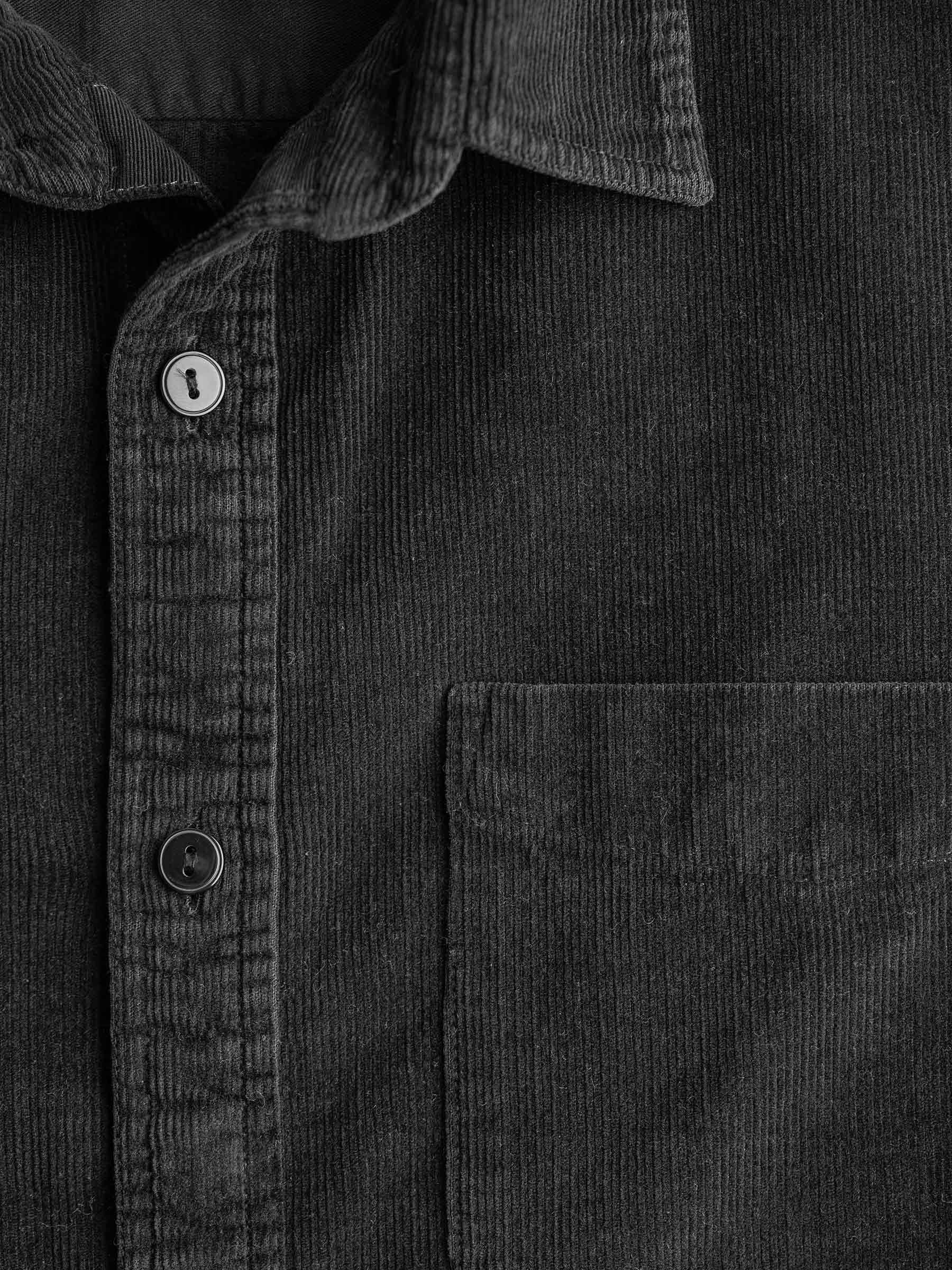 Buck Mason - Black Pincord One Pocket Work Shirt