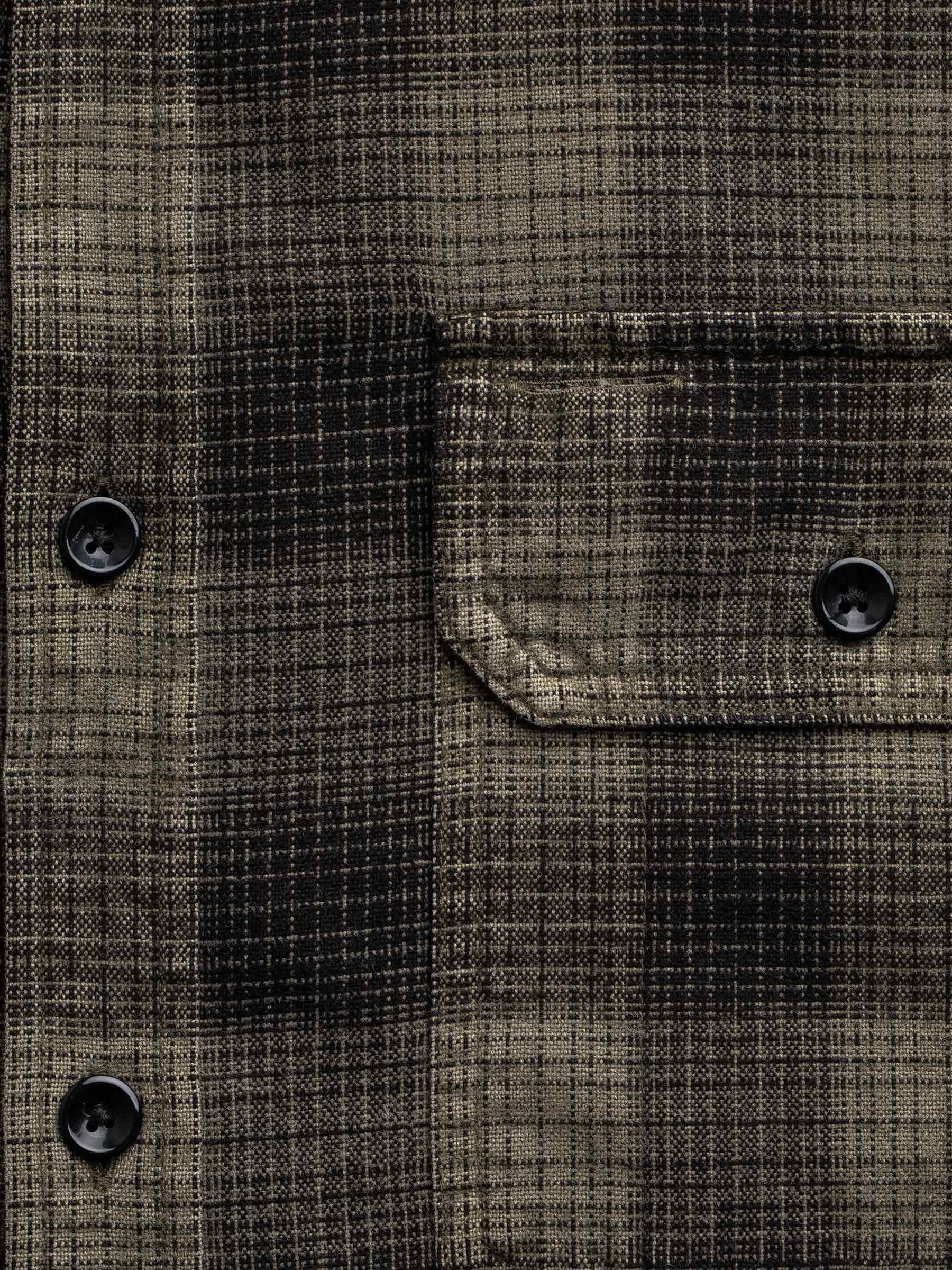 Buck Mason - Faded Dusk/Black Mill Flannel Two Pocket Shirt