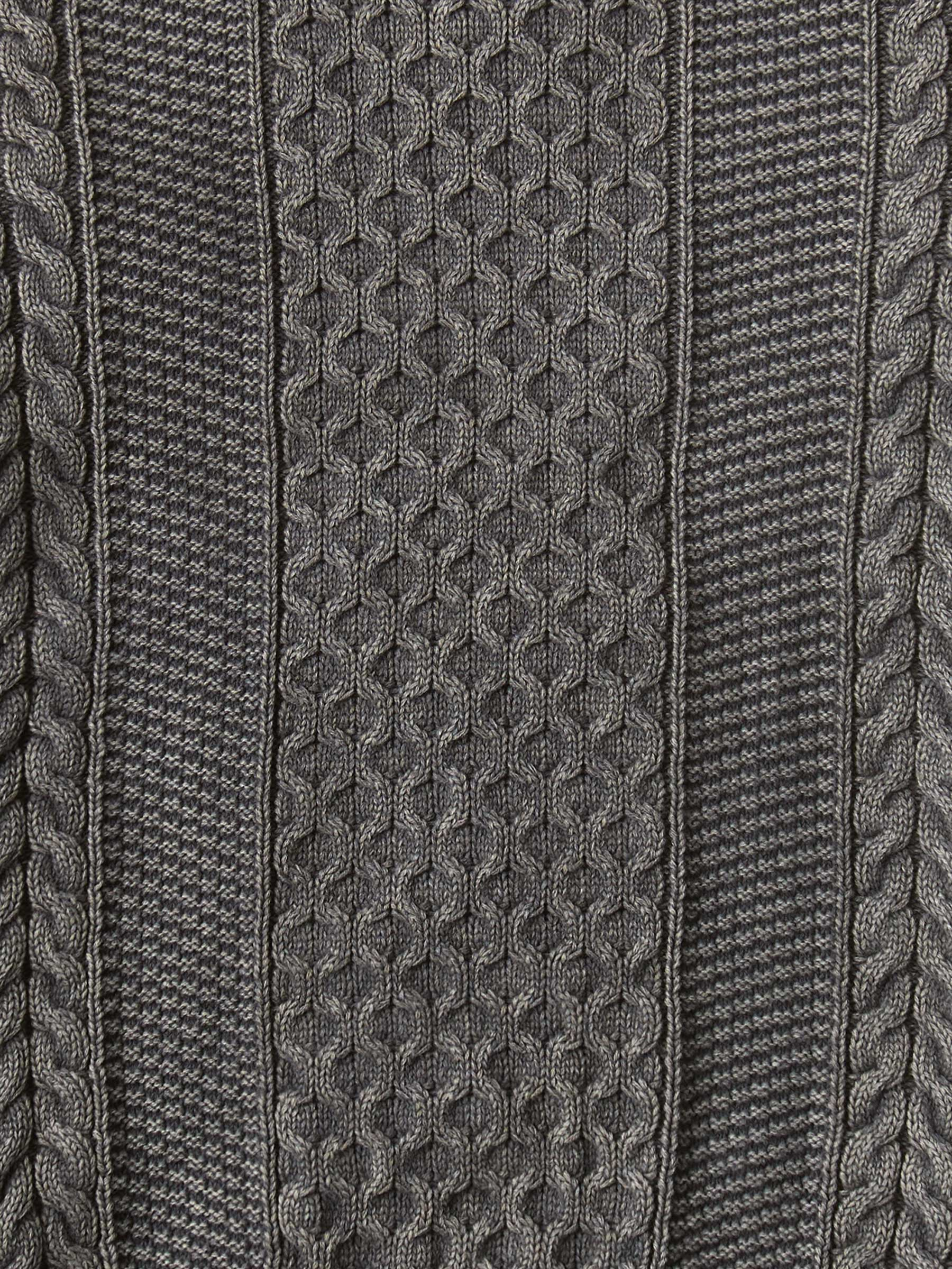 Buck Mason - Vintage Coal Vintage Dyed Cotton Cable Crew Sweater