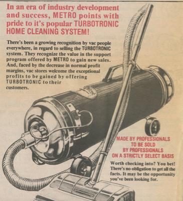 MetroVac 1950 Ad