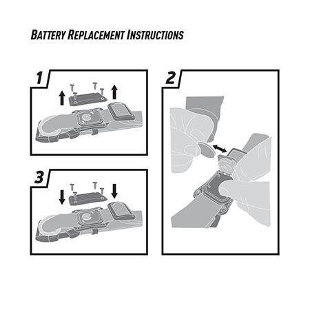 Instructional image for Nite Dawg® LED Dog Collar