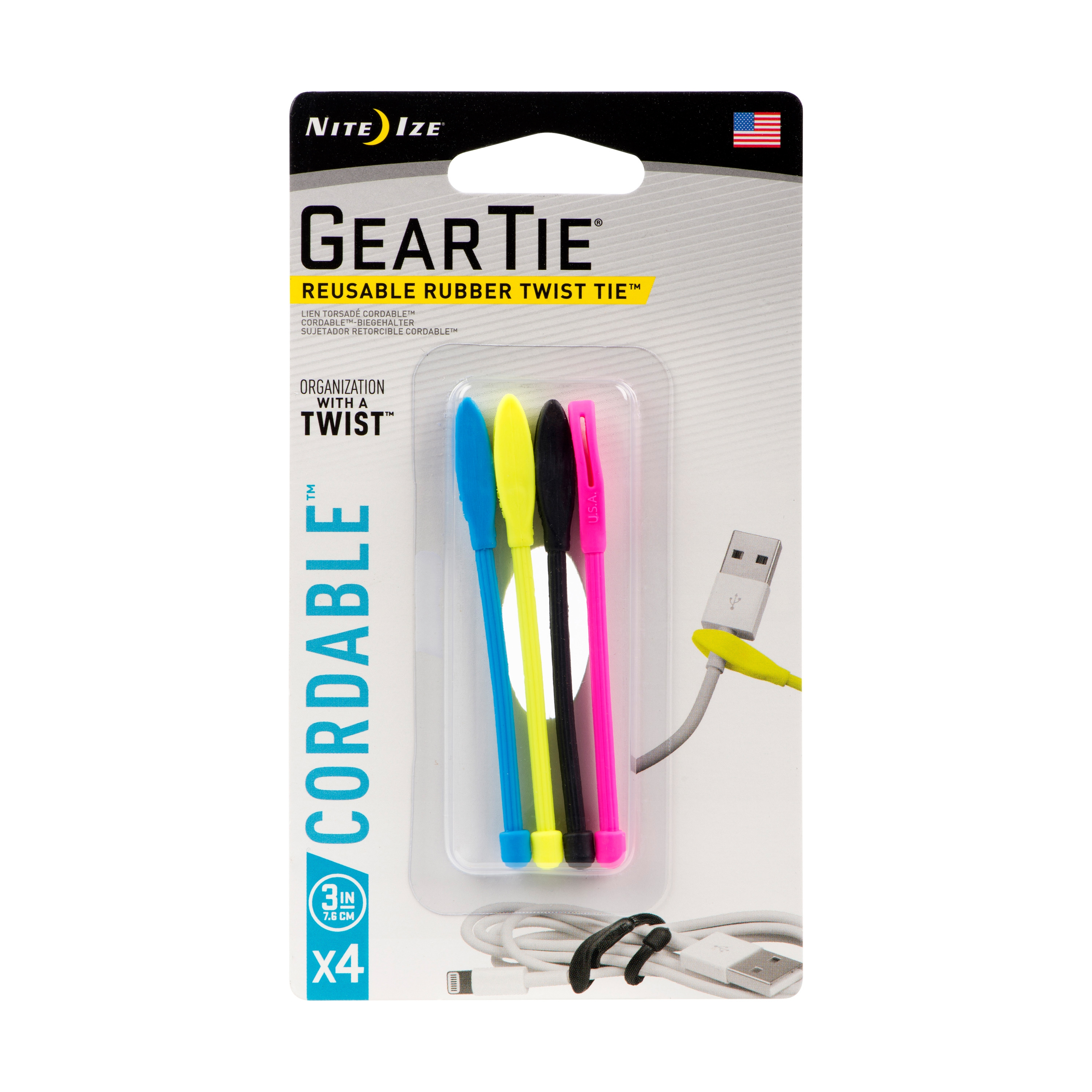 Packing image for Gear Tie® Cordable™ Twist Tie 6