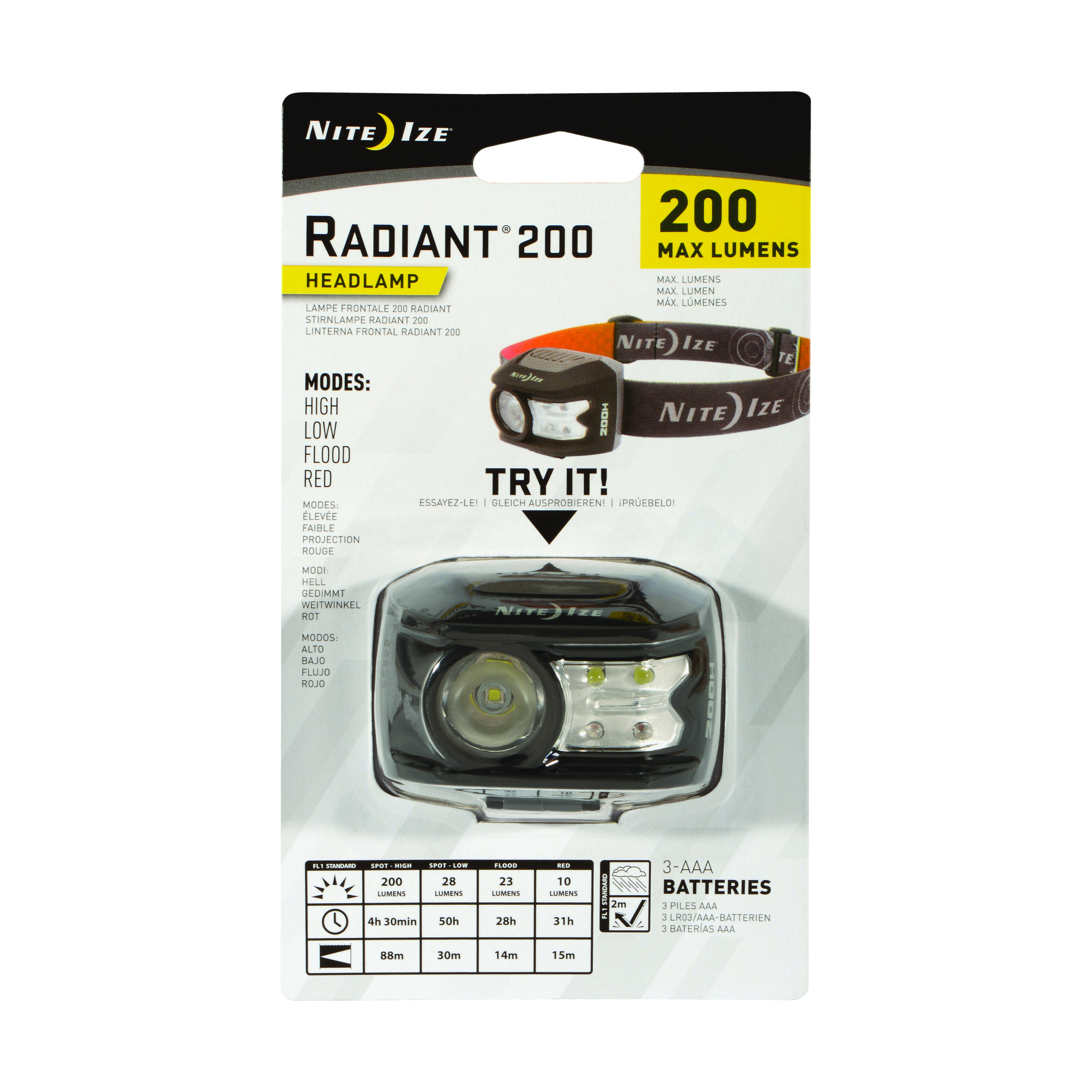 Packing image for Radiant® 200 Headlamp
