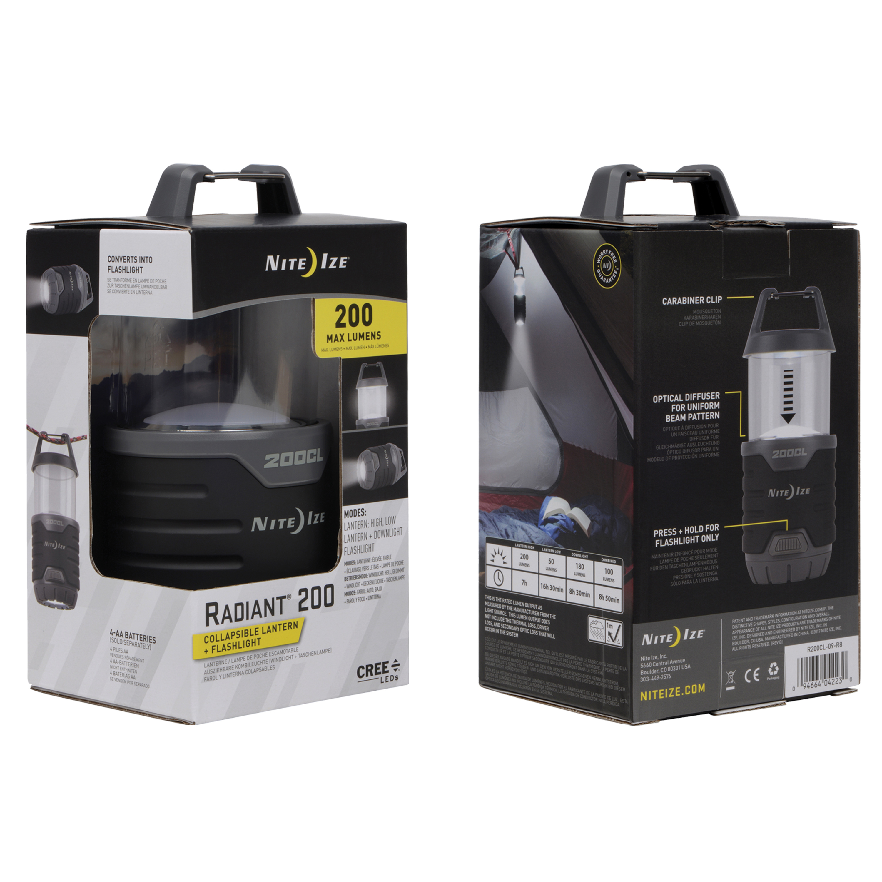Packing image for Radiant® 200 2-in-1 Collapsible Lantern