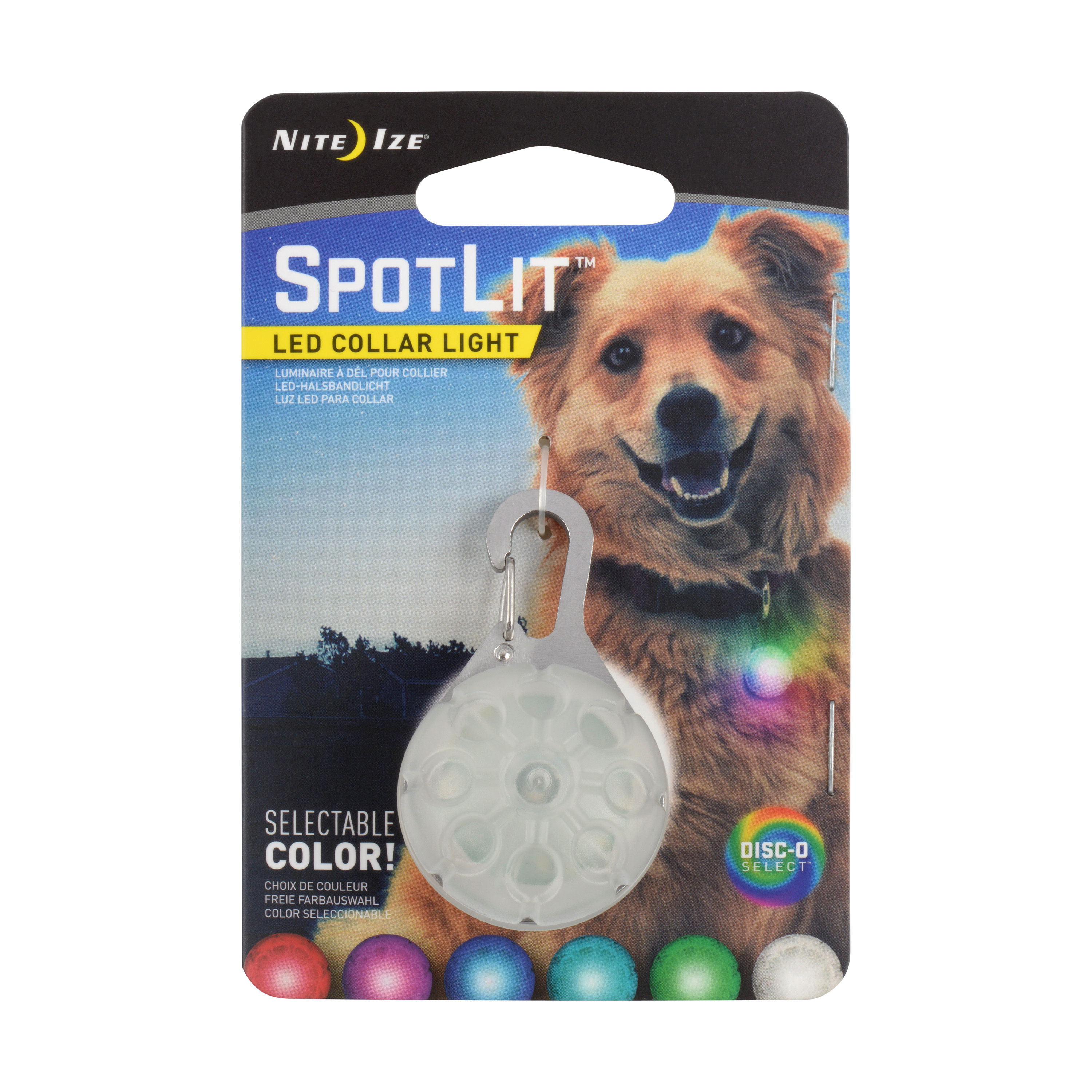 Packing image for SpotLit™ LED Disc-O Collar Light